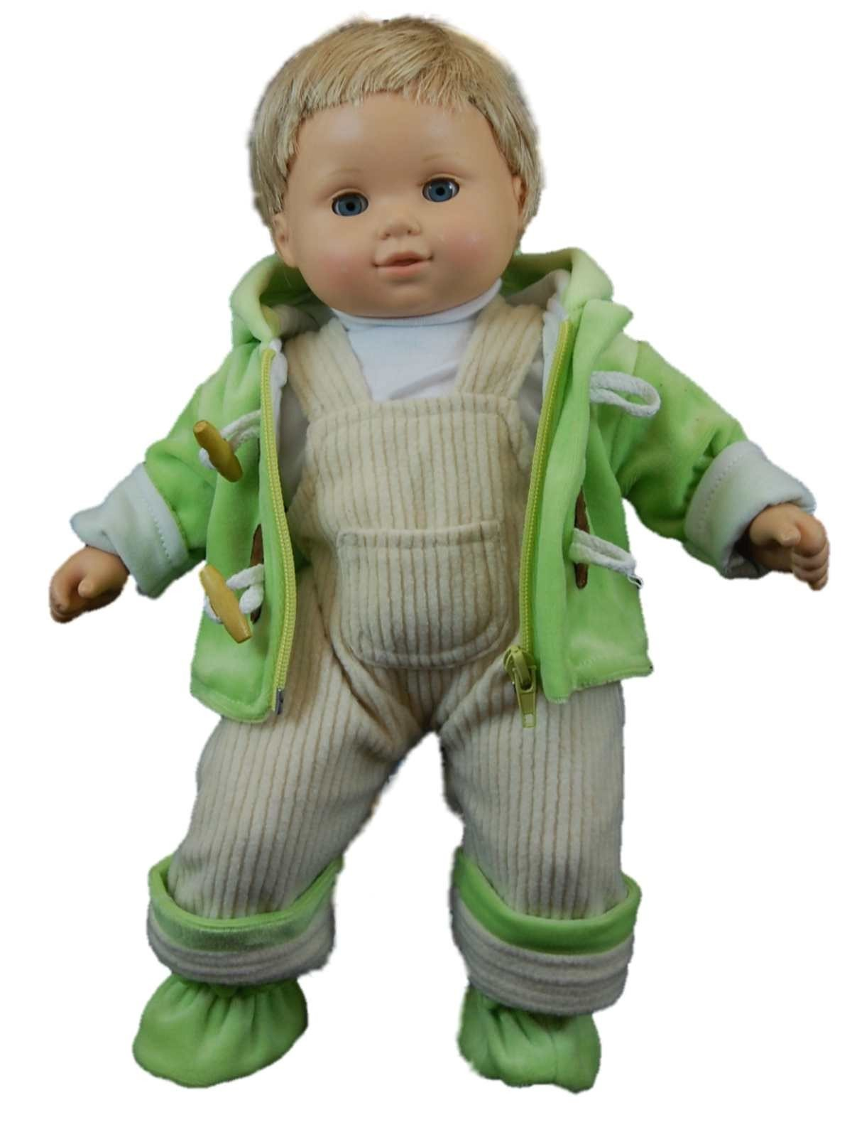 Green Fleece Overall Doll Clothes Outfit For 15 Quot Bitty