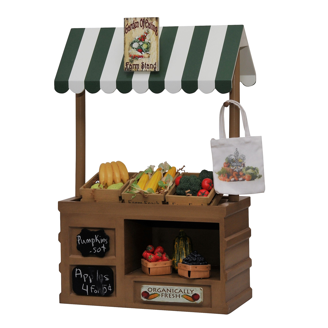 """Farm Stand Roof /& Sign Set For Interchangeable Shop Fits 18/"""" American Girl Dolls"""