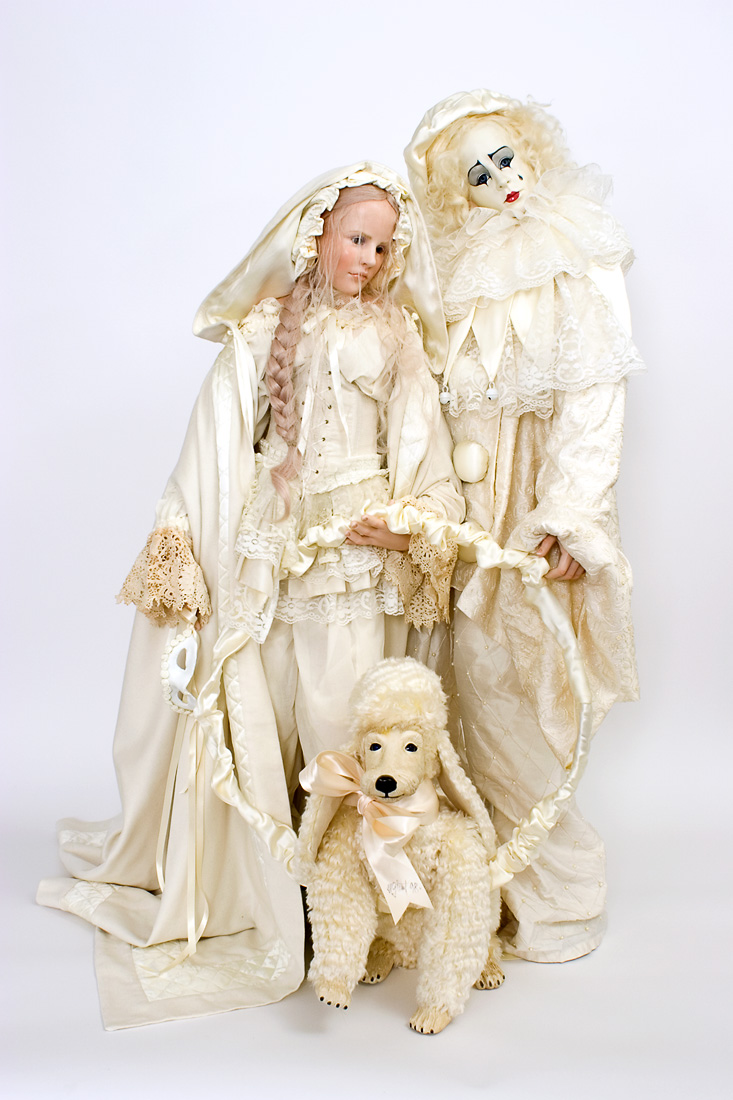 Muse Amp Pierrot Wax Over Porcelain Art Doll By Hildegard