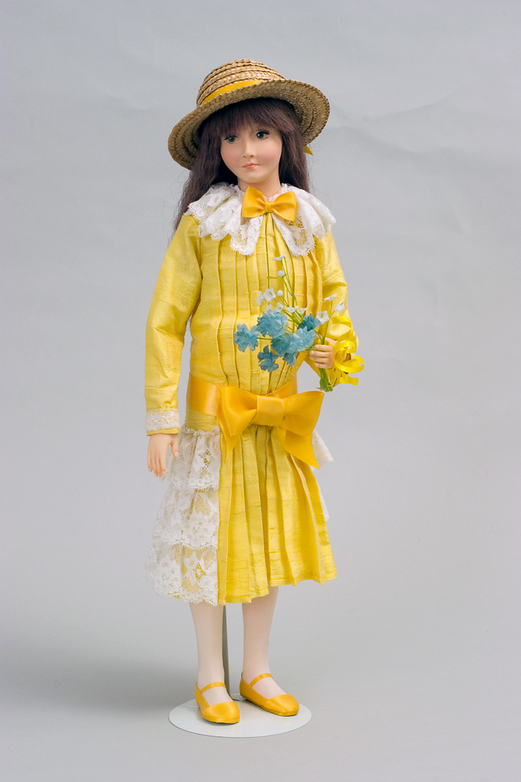 Helena Yellow Wax Art Doll By Paul Crees And Peter Coe