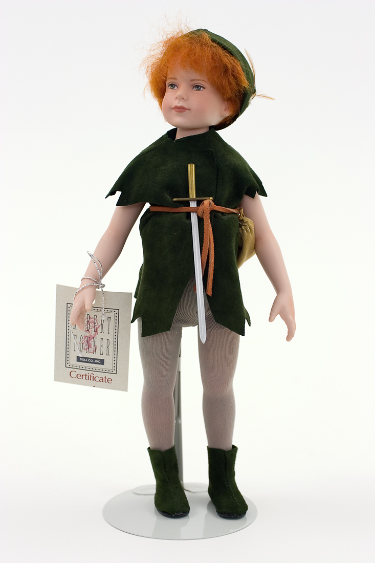 Peter Pan Porcelain Collectible Doll