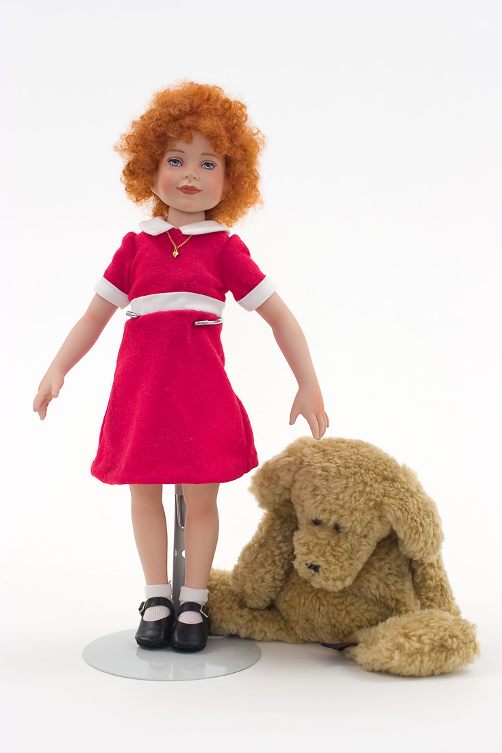 Little Orphan Annie Porcelain Collectible Doll
