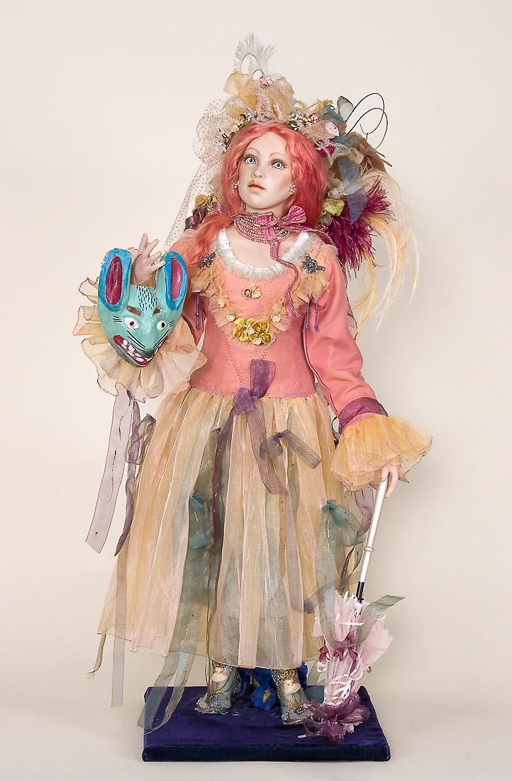 Rabbit Queen OOAK painted porcelain art doll