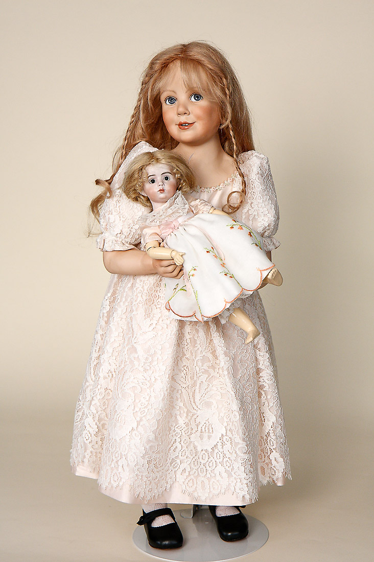 sofie porcelain soft body limited edition art doll by amalia pastor