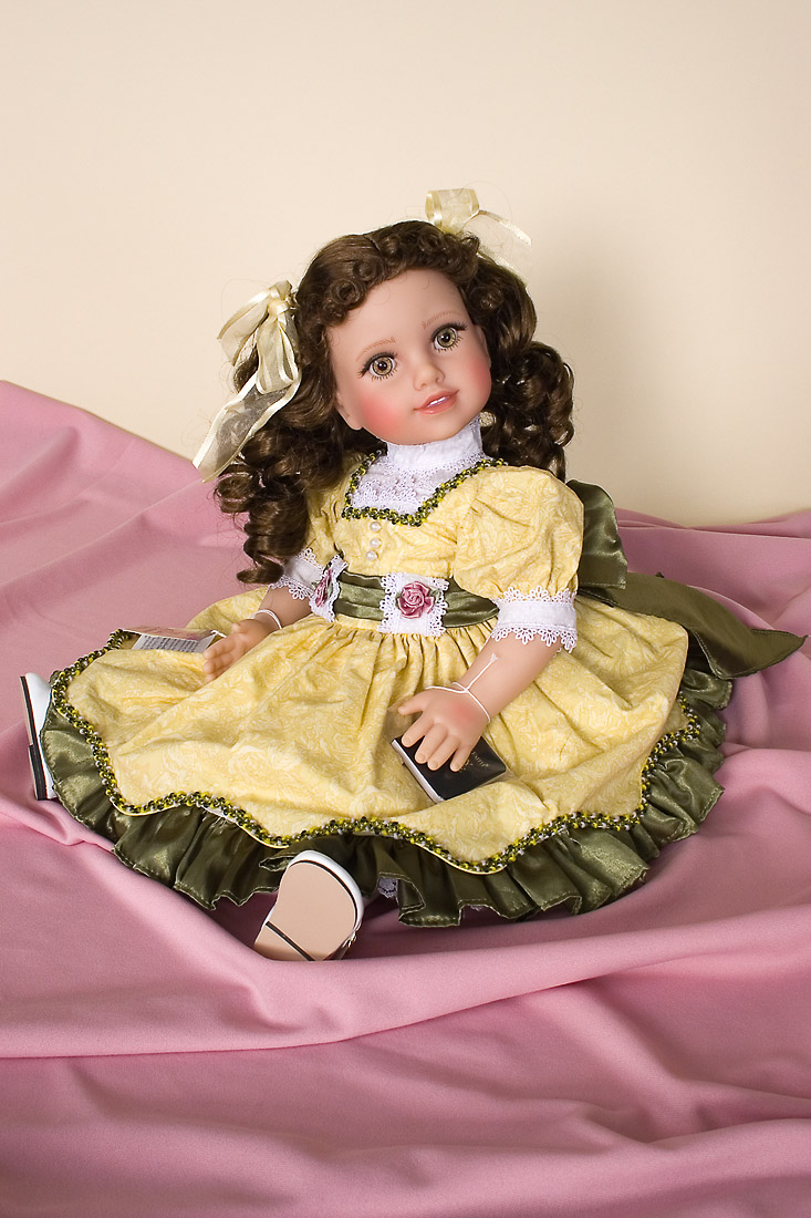 Elsie Dinsmore Doll Vinyl Open Edition Play Doll By