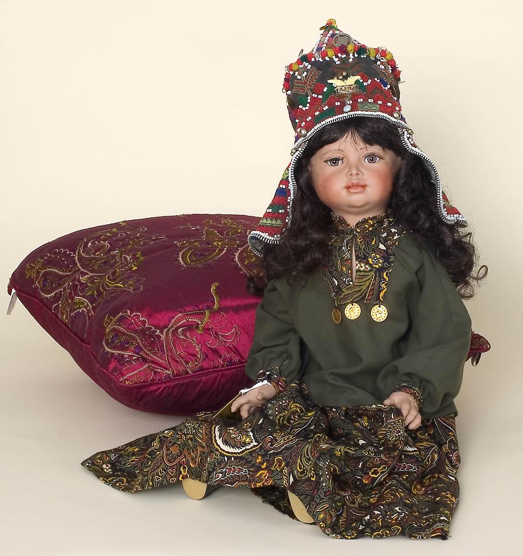 Bibi Jamal Afghan #7/7 ethnic art doll by Susan Dunham Orig: $800