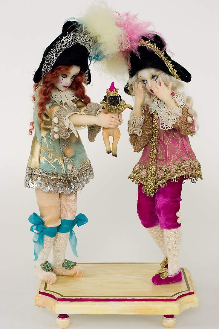 Surprise Polymer Clay One Of A Kind Art Doll By Nicole West