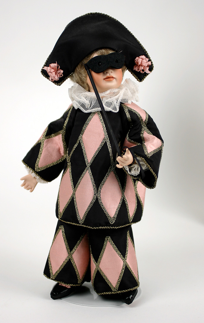 Harlequin - porcelain limited edition collectible doll by ...