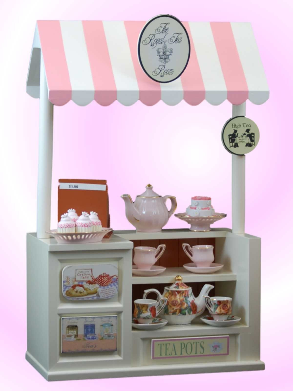 Royal Tea Room Snack Shoppe Set Furniture Fits 18 American Girl Dolls