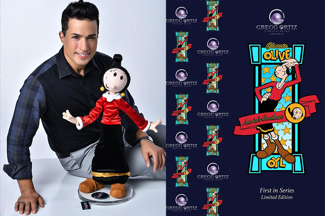 Photo of Gregg Ortiz and Olive Oyl limited edition BJD