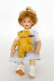 Collectible Limited Edition Porcelain soft body doll Olivia LE 100 by Heidi Pluszcok