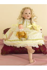 Collectible Limited Edition Porcelain soft body doll Harmony & Cherub (Gunzel) by Hildegard Gunzel