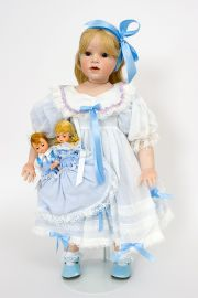 Collectible Limited Edition Porcelain soft body doll Courtney & Friends (Gunzel) by Hildegard Gunzel