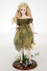 {[en]:Collectible One of a Kind Porcelain soft body doll Blue Fairy