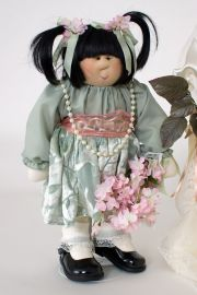 Collectible Limited Edition Fabric doll Asian Bridesmaid by Gretchen Wilson