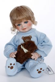 Collectible Limited Edition Porcelain soft body doll Josh by Connie Walser Derek