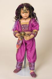 Collectible Limited Edition Porcelain soft body doll Jasmine by Maja Bill-Buchwalder