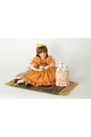 Collectible Limited Edition Porcelain soft body doll Amber Afternoon by Linda Mason