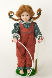 Collectible Limited Edition Porcelain soft body doll Pepper by Linda Mason