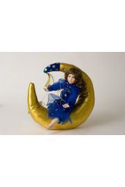 Collectible Limited Edition Porcelain soft body doll Sweet Dreams Moonbeams by Ann Timmerman
