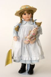 Collectible Limited Edition Porcelain soft body doll Sarah Turner by Linda Mason