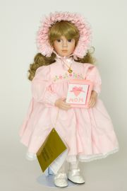 Collectible Limited Edition Porcelain soft body doll Little Sweetheart by Linda Mason