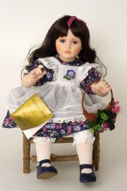 Collectible Limited Edition Porcelain soft body doll Blackberry Blossom by Ann Timmerman
