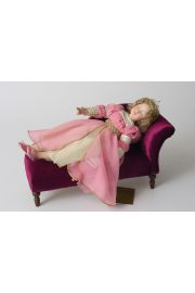 Collectible  Porcelain soft body doll Sleeping Beauty GT by Ann Timmerman