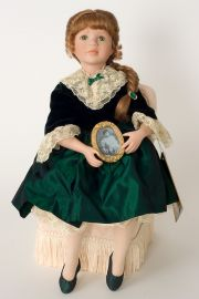 Collectible Limited Edition Porcelain soft body doll Emerald Memories by Linda Mason