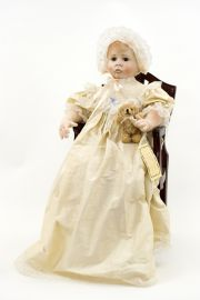 Collectible Artist's Proof Other Media doll Baby Bonnie Cream by Linda Murray