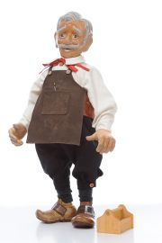 Image of Collectible Limited Edition Wood doll Geppetto by Marlene Xenis