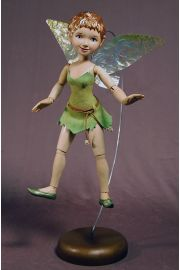 Collectible Limited Edition Wood doll Tinkerbell by Marlene Xenis