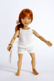 Main image of Sophie Dress Up wood art doll by Marlene Xenis