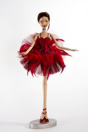 Main image of Prima Ballerina Firebird wood art doll by Marlene Xenis