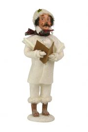 Image of Winter White Family Man caroler figurine by Byers' Choice, Ltd.