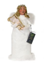 Image of Angel Woman with Harp caroler figurine by Byers' Choice, Ltd.