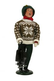 Image of Man Holding Skates caroler figurine by Byers' Choice, Ltd.