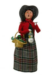 Image of Woman Selling Glass Ornaments caroler figurine by Byers' Choice, Ltd.