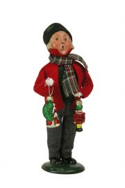Image of Boy with Glass Ornaments caroler figurine by Byers' Choice, Ltd.