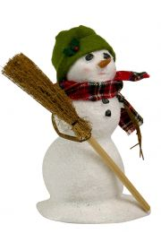Image of Small Snowman with Broom caroler figurine by Byers' Choice, Ltd.