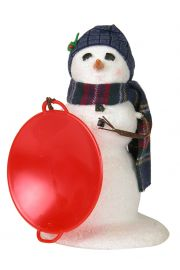 Image of Small Snowman with Saucer caroler figurine by Byers' Choice, Ltd.