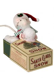 Image of Mouse in Christmas Snow Box caroler figurine by Byers' Choice, Ltd.