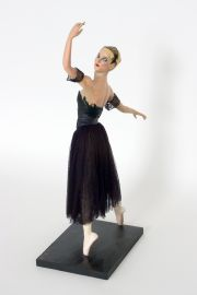 Image of Odelle Swan Lake Ballerina paperclay art doll by Nancy Wiley