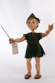Main image of Peter Pan wood art doll by Marlene Xenis