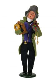 Clockmaker - collectible limited edition mixed media caroler figurine by Byers' Choice, Ltd.