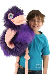 Photo of Giant Bird Ostrich puppet with boy by The Puppet Company Ltd.