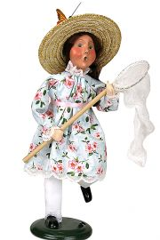 Photo of Byers' Choice collectible caroler figurine Chasing Butterflies.