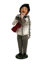 Photo of Man in White Cable Knit Sweater caroler figurine ZMS241M from Byers' Choice Ltd.