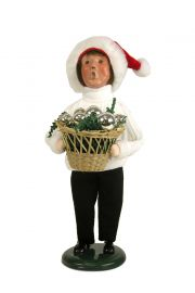 Photo of Boy in Cable Knit White Sweater caroler figurine ZMS241B from Byers' Choice Ltd.
