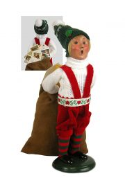 Photo of Elf with Mailbag ZMS245 caroler figurine from Byers' Choice Ltd.